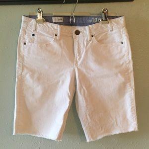 GAP White Denim Bermuda Shorts